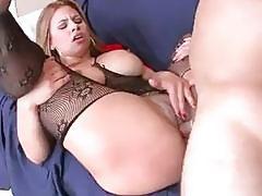 Big butt latina Carmen Ross riding hard cock