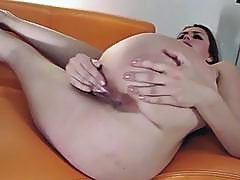 Big ass babe gets railed