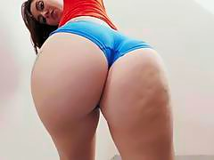 Awesome hottie Mandy Muse shakes her big ass and teases