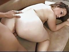 Chloe Summers gets sprayed with a fresh load of cum on her butt
